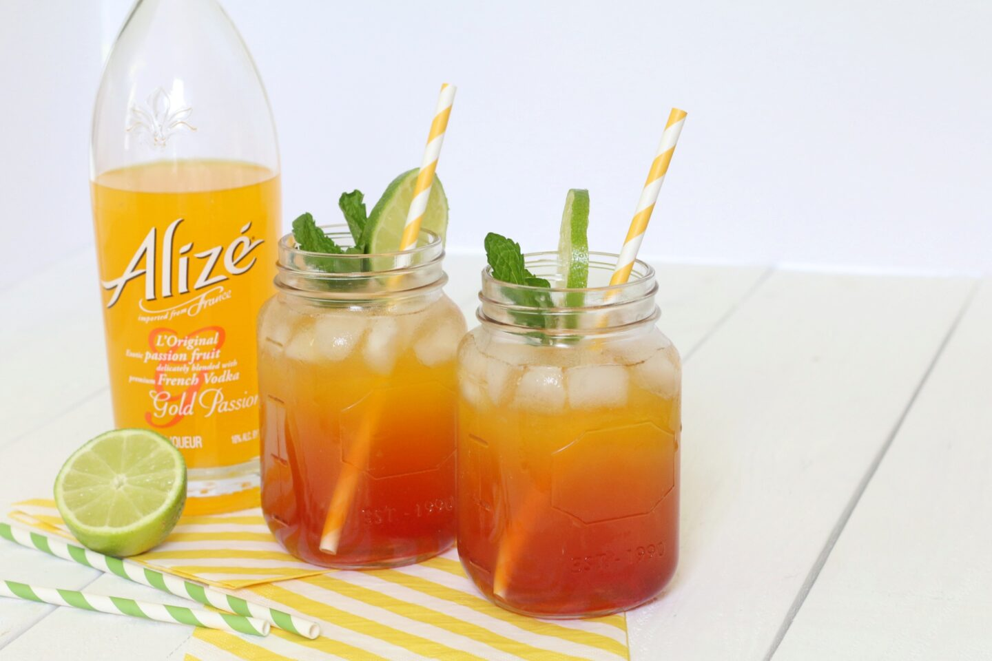 Caribbean Sunrise Cocktail with Alize Gold Passion