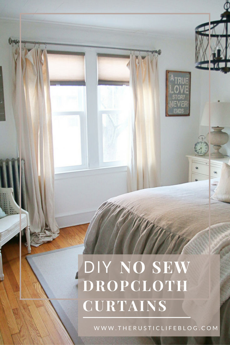 Diy No Sew Drop Cloth Curtains Sandra Morgan Living