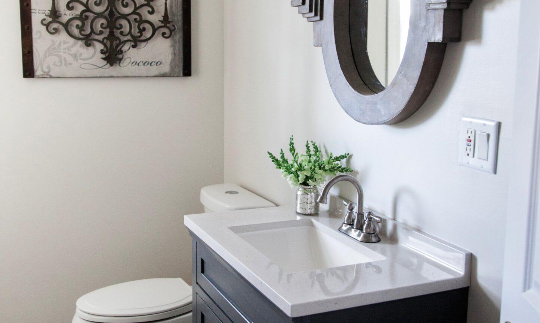 How To Decorate A Small Farmhouse Style Bathroom